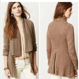 Knitted & Knotted Cardigan Sweater Sirretta Lace